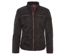 Jacke, Biker-Stil, Reißverschlusstaschen, Schwarz