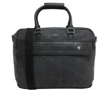 Handtasche, Canvas-Optik, Kunstleder-Details, Grau