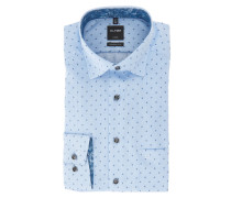 "Businesshemd ""Luxor"", Modern Fit, feines Muster, bügelfrei, Blau"