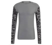 Langarmshirt, atmungsaktiv, Kompression, für Herren, Grau