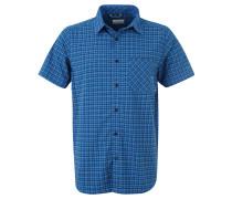 Outdoorhemd, Kurzarm, Karo, Omni-Shade, für Herren, Blau
