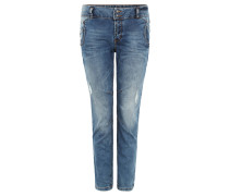 "Jeans ""Lynn"", tiefer Schnitt, Ziernähte, Waschung"
