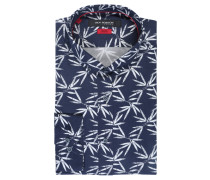 Businesshemd, Slim Fit, Button-Down-Kragen, Allover-Print