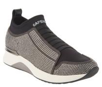 Sneaker, Strass, Gummizüge, Zugschlaufe, Schwarz