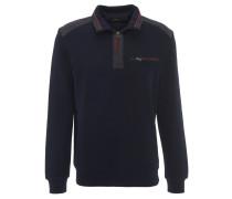Sweatshirt, kontrastive Nähte, elastische Bündchen, Blau