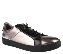 Sneaker, Metallic-Optik, elastische Schnürsenkel, Fersenkappe