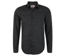 Freizeithemd, Regular Fit, Baumwolle, gemustert, Grau