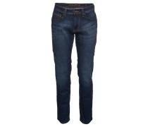 "Jeans ""Houston"", straight fit, mittlere Leibhöhe, Blau"