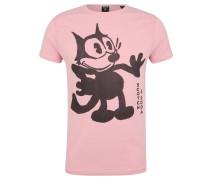 T-Shirt, Baumwolle, Print, Rundhalsausschnitt, Rosa