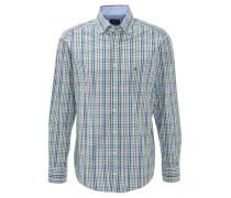 Hemd, kariert, Button-Down-Kragen, Grün