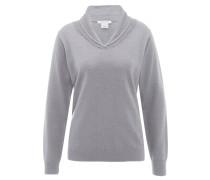 Pullover, Wolle, Kragen, für Damen, Grau