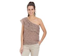 Blusenshirt, Off-Shoulder, florales Design, Volants