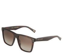 Sonnenbrille, rechteckige Form, Filterkategorie 2