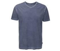T-Shirt, V-Ausschnitt, meliert, used-Optik