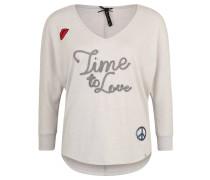 """Shirt """"Forever"""", 3/4-Arm, Schriftzug, Glitzer, Beige"""