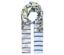 Schal, leicht, transparent, floraler Print