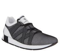 Sneaker, Mesh-Bezug, Streifen, Weiß