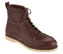 """Boots """"R2285UDY 1A"""", Leder, Schnürung, Ziernähte, Braun"""