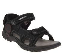 Sandalen, Trekking-Stil, Klettverschlüsse, Schwarz