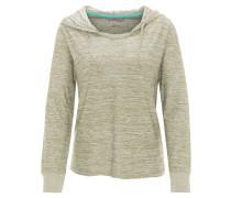 Sweatshirt, Kapuze, meliert, atmungsaktiv, elastisch, für Damen, Oliv