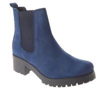 Chelsea Boots, Leder, Profilsohle, Blau
