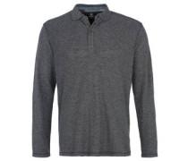 Poloshirt, Langarm, meliert