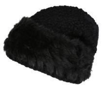 Mütze, Strick, Woll-Anteil, Webpelz-Besatz