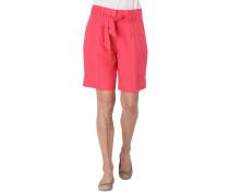 Shorts, Leinen, Paperbag-Stil, Schleife