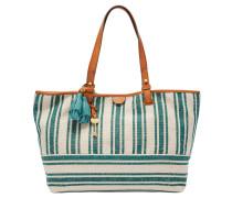 """Shopper """"Rachel Tote Teal Stripe"""", Streifen-Design, Anhänger, Grün"""