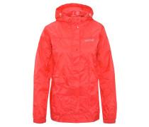 Regenjacke, atmungsaktiv, leicht, wasserdicht, für Damen, Rot