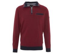 Sweatshirt, Troyerkragen, Rippbündchen, Rot