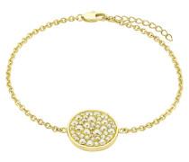 Armband mit Kristall-Plakette gelbvergoldet
