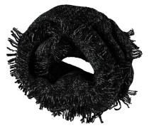 Loop-Schal, Grobstrick, Fransen, meliert