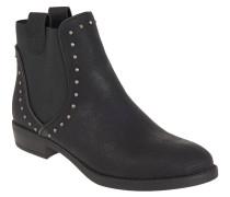 Chelsea Boots, Nieten, Leder-Optik, Schwarz