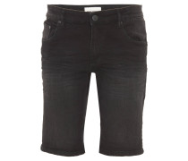 "Shorts ""Wardell"", Regular Fit, Knitter-Optik, Baumwoll-Stretch, Schwarz"