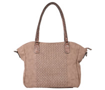 "Shopper ""Atena"", Flecht-Design, Braun"