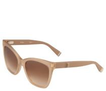 Sonnenbrille, Cat-Eye-Optik, semi-transparentes Gestell