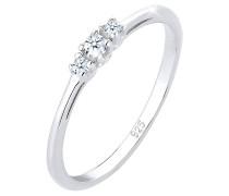 Ring Verlobungsring Diamant (zus. 0.07 Ct.) Zart 925