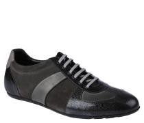 Sneaker, Leder, elegant, 6-Lochschnürung