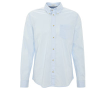 Freizeithemd, Regular Fit, Button-Down-Kragen, Brusttasche, Blau