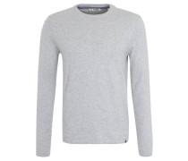Pullover, Baumwolle, verlängertes Rückenteil, Grau