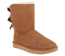 "Boots ""Bailey Bow II"", Veloursleder, Lammfellfutter, Braun"
