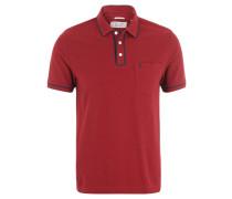 Poloshirt, Brusttasche, Baumwolle, Rot