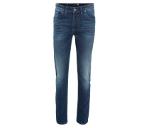 """Jeans """"Bill-6"""", Modern Fit, thermoregulierend, Used-Look, Blau"""