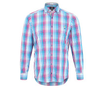 Freizeithemd, Casual-Fit, Button-Down, Türkis