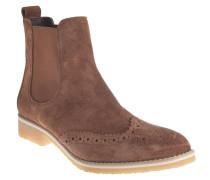 Chelsea Boots, Leder, Lyralochung, Braun