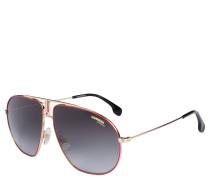 """Sonnenbrille """"Bound - AU2/9O"""", Retro-Stil, rote Glasränder"""
