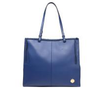 """Handtasche """"Litzy"""", Leder, Inneneinteilung, Blau"""
