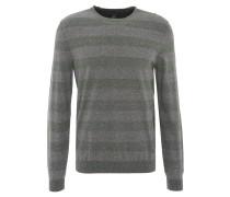 Pullover, gestreift, meliert, formgebende Rippbündchen, Baumwolle, Oliv