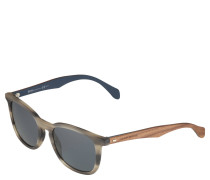 Sonnenbrille, Materialmix, klassischer Schnitt